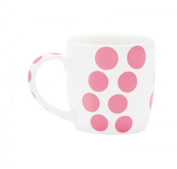 Dot Dot Porzellan Mug, pink, 35 cl