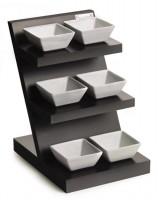 3 Etagen mit 6 Porzellan Schalen 25x20cm H:29cm