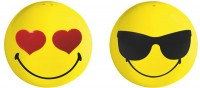 Smiley Salz-/Pfefferstreuer 2er-Set, Emoticon Love/Cool