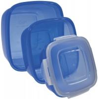 Vorratsdose 3er Set quadratisch blau