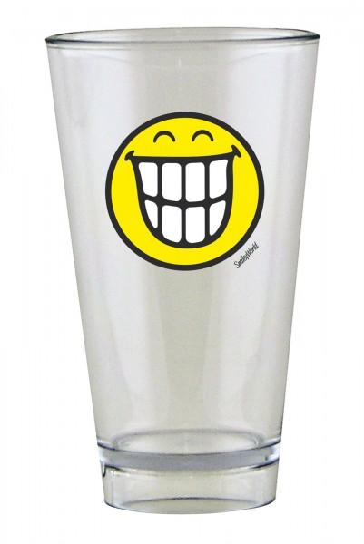 Smiley Glas, Emoticon breites Grinsen 30 cl
