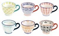 Essential Art 6 Stk. Kaffeetasse im Set, einzeln in GB,380ml
