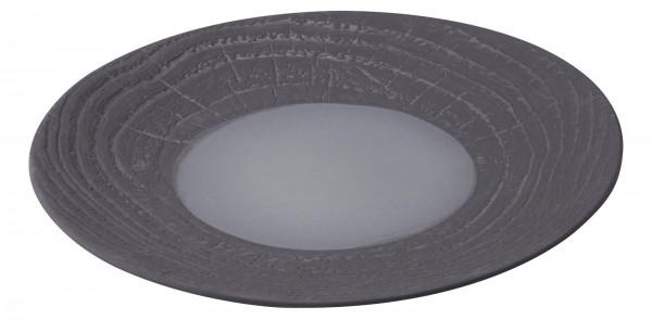 Speiseteller rund, H: 3.4 cm, Ø 28.3 cm, Lakritze