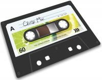 Glasschneideplatte Musik-Kassette 20x30cm