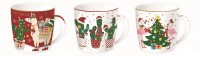 Fancy Christmas 6 Stk. Kaffeeta. im Set, einzel in GB, 350ml