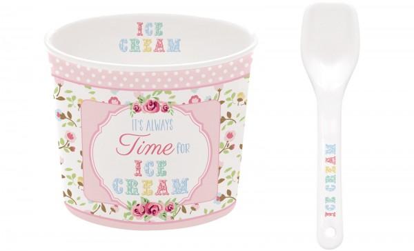 Time for Ice Cream Porzellan Eisbecher, pink, Ø 8.5 cm in GB