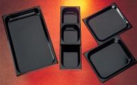 GN-Schale Edelstahl schwarz emailliert 1/2 32.5x26.2cm h65mm