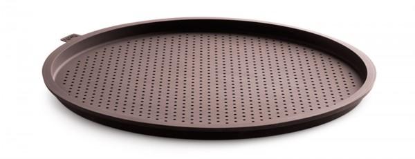 Silikon Pizzamatte rund, braun perforiert, 36 cm