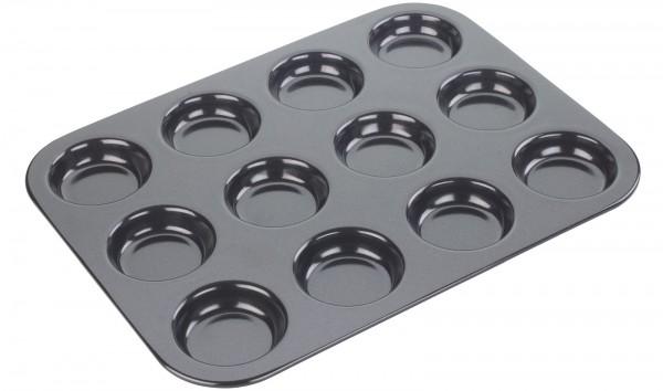 Backform flach 12er Muffin, 35.5x27.2x2.3cm, Antihaft
