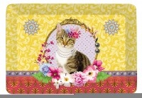 "Fancy Animals ""Katze"" Tablett 21.5x16 cm"