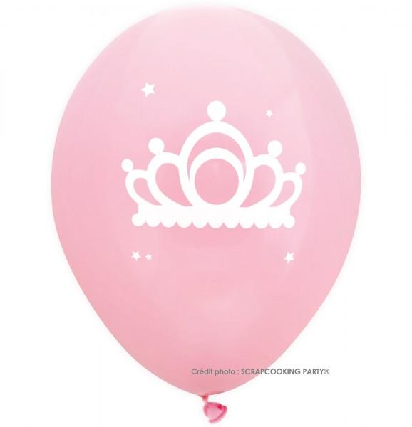 Luftballons Prinzessin, 6 Stk. Ø25cm