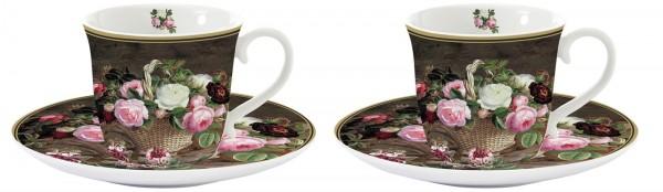 Old England Roses 2er Set Espressotasse 80 ml in GB