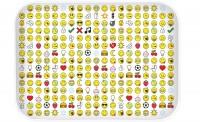 Smiley Tablett Emoticon weiss 40×30 cm