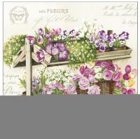 Les Fleurs Servietten 33x3d3 cm 20St