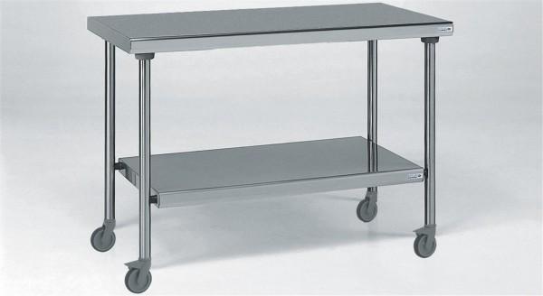 Tisch mit Boden 800x1800mm, auf Räder