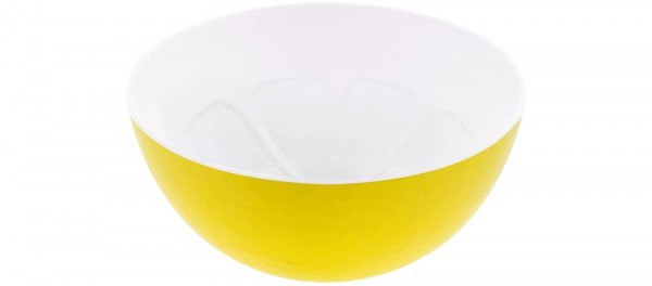 Duo Schüssel Zitrone gelb/weiss 12cm