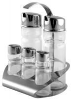 Ménage 5tlg Salz/Pfeffer/Zahnstocher/Essig/Oel 14x10cm