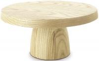 Holz Servierständer, H: 10, Ø 20.5 cm, natur