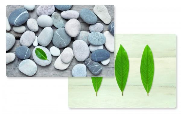 Leaves/Stones Tischset doppelseitig 45x30 cm