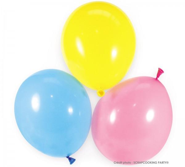 Luftballons assortiert 6 Stk. Ø25cm