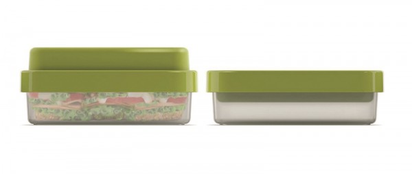 GoEat Compact 2-in-1 Lunch Box, grün, 19x13.5x6/8.5 cm