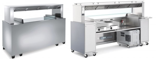 Beleuchtung mit 5 LED-Spots zu Frontcooking-Station BC FS 2