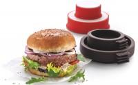 Hamburger und Brot Kit, 4-tlg., weiss/rot, braun, Ø11cm