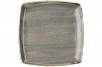 Stonecast Grau Platte quadratisch 26.8x26.8cm