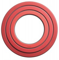 Ring Topfuntersetzer, 3-tlg., rot