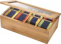 Teebox m. 8 Fächer, Bambus, 28x16x9cm