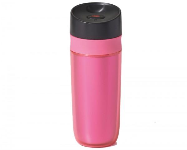 Travel Mug doppelwandig, pink, 0.45 lt