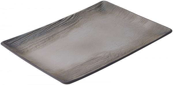 Speiseteller quadratisch, 32x23x2.4 cm, Pfeffer