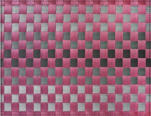 PP-Tischset gewebt, eckig, aubergine gestreift, 30x40 cm