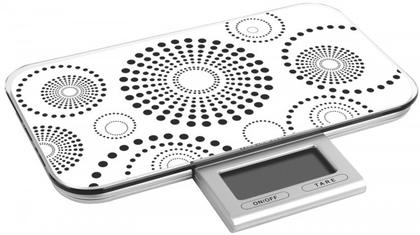 Küchenwaage digital weiss bis 10 kg 23x13x2cm
