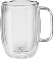 Sorrento Plus Latte Macch. doppel. m. Henkel, 2er Set, 450ml