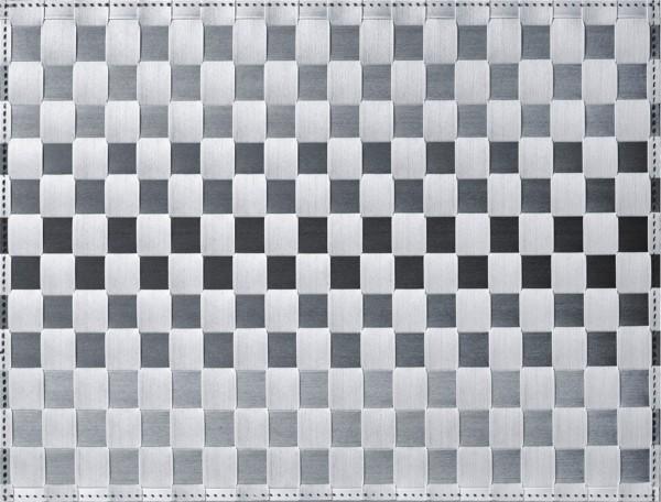 PP-Tischset gewebt, eckig, lichtgrau gestreift, 30x40 cm