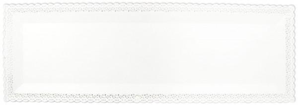 Kuchenplatte rechteckig 1 Stk., weiss, Kunststoff, 40x13 cm
