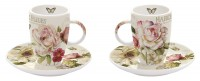 Fleurs Espressotassen 2er Set 50 ml in GB