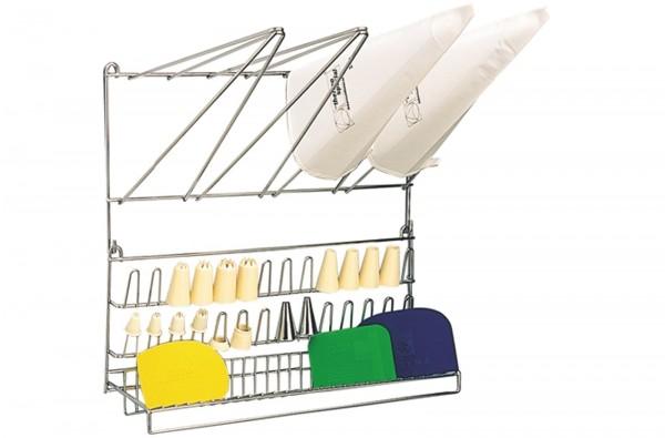 Spritzbeutel- und Tüllenaufhänger aus Edelstahl