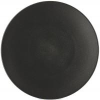 Equinoxe Teller flach, Ø 26 cm, H: 3 cm, schwarz