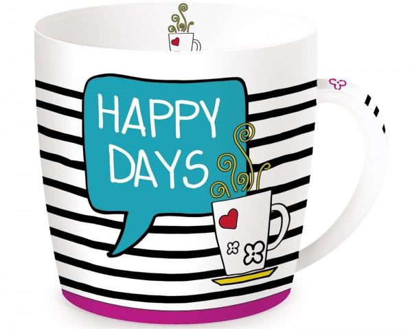 Happy Days Porzellanbecher in GB, 350 ml
