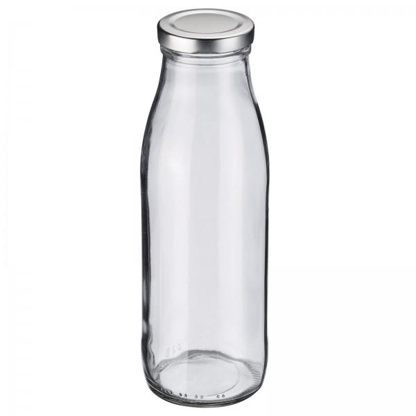 Milch-und Saftflasche 500 ml, rund