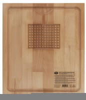 Schneidebrett aus Buchenholz, 35x40x2.5 cm