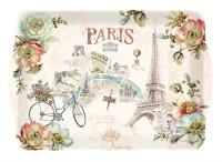 Paris forever Tablett m. Griffen, 33x22 cm