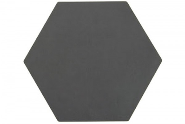 Hexagon Schneidebrett schwarz, 33x28.5cm