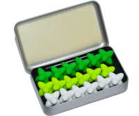 Craggles Geschenkbox - weiss & lime & grün