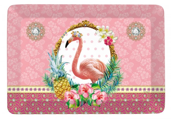 "Fancy Animals ""Flamingo"" Tablett 21.5x16 cm"