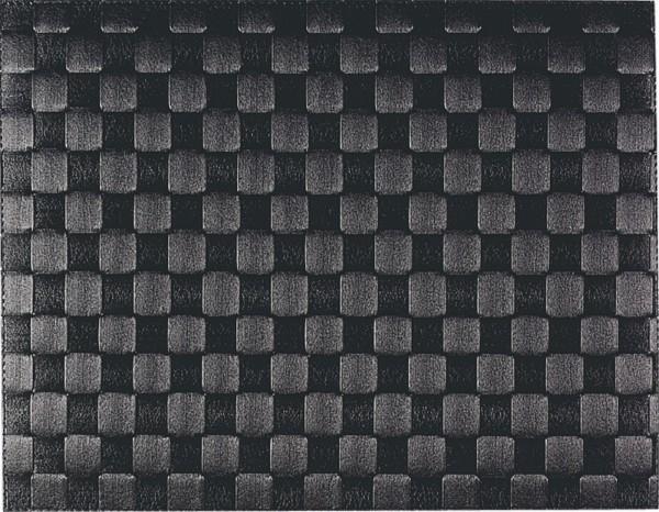 PP-Tischset gewebt, eckig, schwarz, 30x40 cm