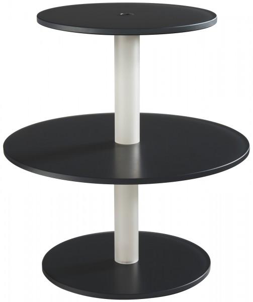 Kuchenständer m. 3 Etagen, Ø 28/39.5/28 cm, H: 40 cm, anthra