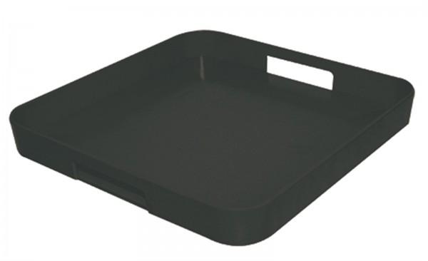 Gallery Tablett quadratisch schwarz 33x33 cm
